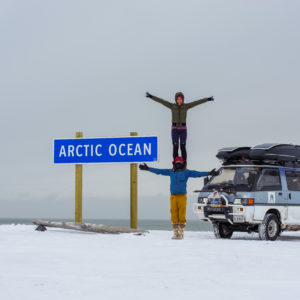 Sam and Raquel Overlanding into the Artic Ocean