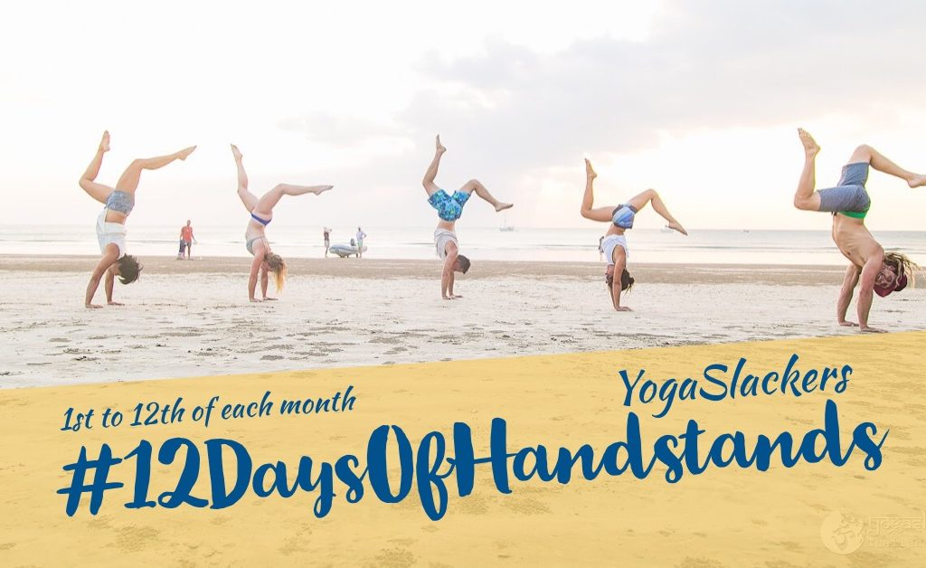 YogaSlackers 12 Days of Handstands