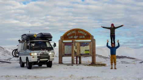 SlackerVan at the Arctic Circle