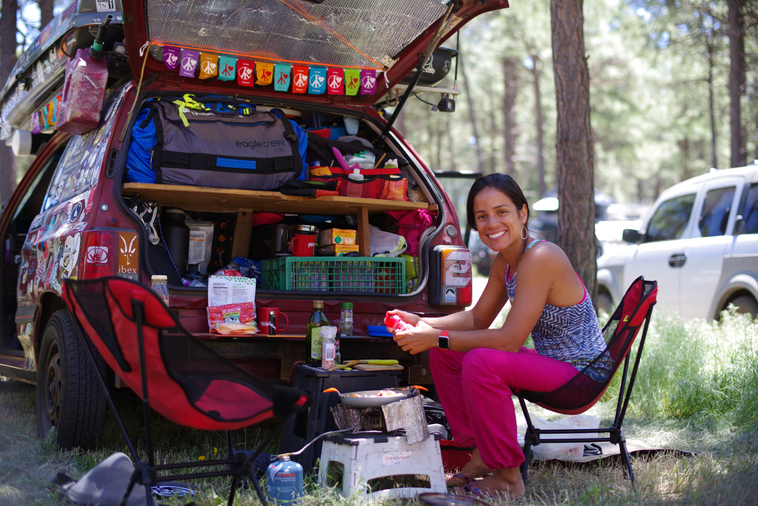 Car camping kitchen