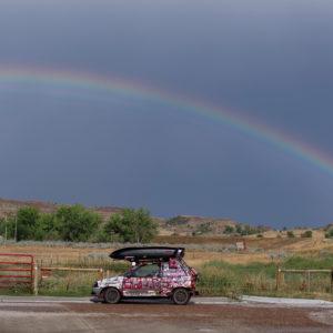 PeaceLoveCar and a rainbow