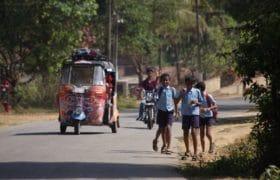 Driving a Rickshaw