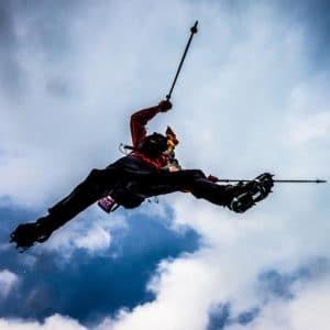 Sam Jumping a Glacier