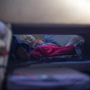 Sleeping in a car